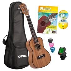 Cascha HH 2036 GB Premium Mahogany Concert Ukulele Starter Pack