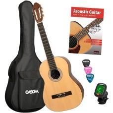 Cascha HH 2139 EN Classical Guitar 4/4 Bundle