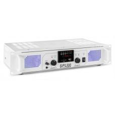 Skytec SPL 500MP3, stereo zosilovač, MP3/SD/USB, 2x 85W, biely