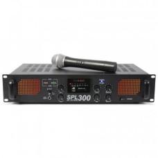 Skytec SPL-300, zosilovač s VHF mikrofónom, MP3, FM